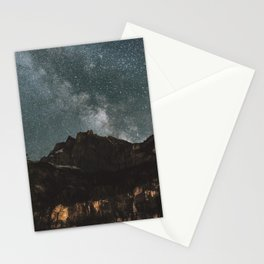 Space Night Mountains - Landscape Photography Stationery Cards