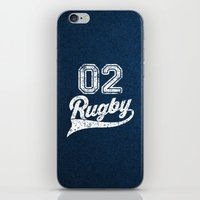 rugby iPhone & iPod Skins featuring RUGBY by solomnikov