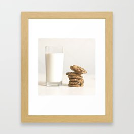 milk and cookies Framed Art Print