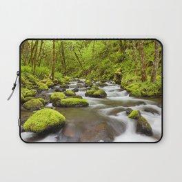 Gorton Creek through lush rainforest, Columbia River Gorge, Oregon, USA Laptop Sleeve