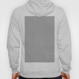 Black and white pea pattern Hoody