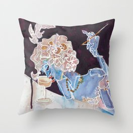 New Year's Champagne Throw Pillow