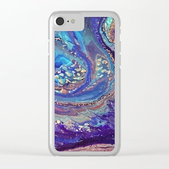 Iridescent Fantasy Abstract Clear iPhone Case
