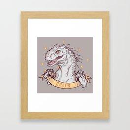 Indominus Rex is a queen! Framed Art Print