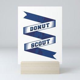 Donut Scout Text Mini Art Print