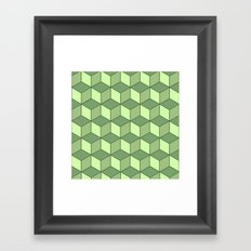 Lime cubes Framed Art Print