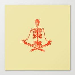 Skeleton Sukhasana Canvas Print