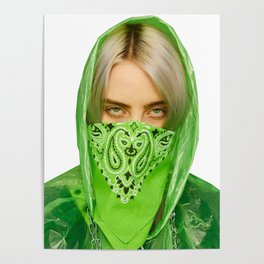 Billie Eilish Green Photography Decoration Poster