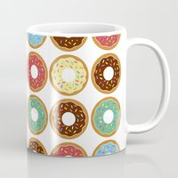 donuts Mugs featuring Donuts!! by Ron Trickett (Rockett Graphics)