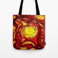 nick cave Tote Bags featuring Cave by Irina  Mushkar'ova
