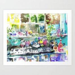 sunlight upon windowsill Art Print