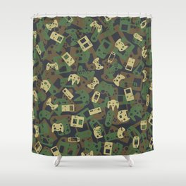 Gamer Camo WOODLAND Shower Curtain