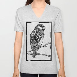 Two Sparrows by Sketchy Reputation Unisex V-Neck