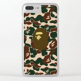 BAPE APE ON GREEN Clear iPhone Case