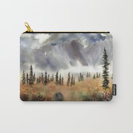 Fall Near Cantwell Alaska, an original watercolor painting Carry-All Pouch