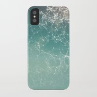 physics iPhone & iPod Cases featuring Fresh summer abstract background. Connecting dots, lens flare by AMULET