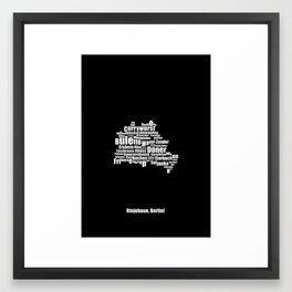 Berlin II - Typocal Food Map Framed Art Print