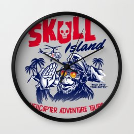 Skull Island Helicopter Adventure Tours Wall Clock