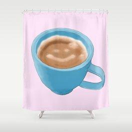 """You mocha me smile a latte"" -Average Joe Shower Curtain"