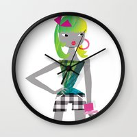 teen titans Wall Clocks featuring Teen by Mrwilliam Draw