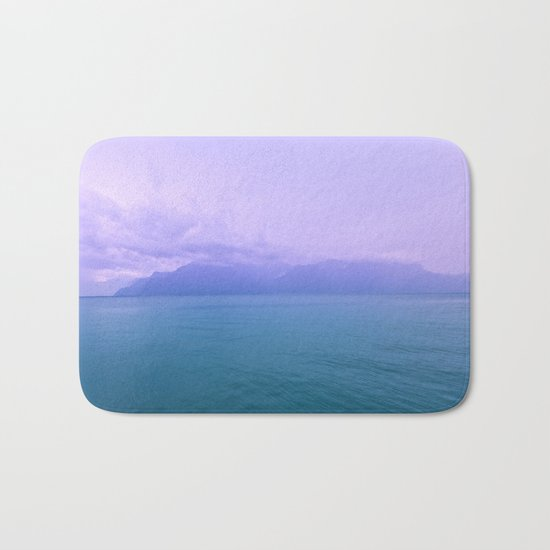 Wild Nature with Lake and Mountains Bath Mat