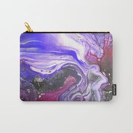 Pipe Down -  Purple Fluid Liquid Painting Pink Grey Swirls Marble Carry-All Pouch