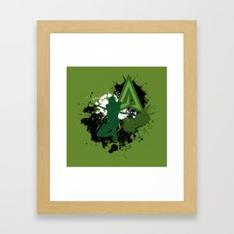 Splashing Arrow Framed Art Print