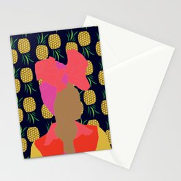 Pineapple Bawse Babe (Blue) Stationery Cards