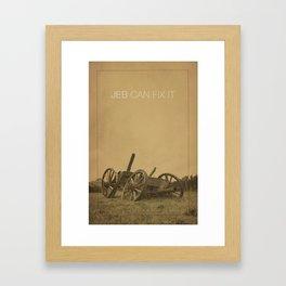3% Support Framed Art Print