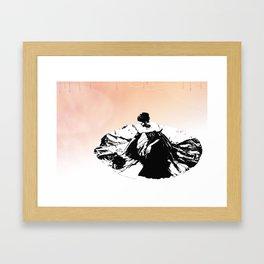 Vintage Lady Framed Art Print