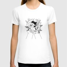 Natural Woman White Womens Fitted Tee MEDIUM