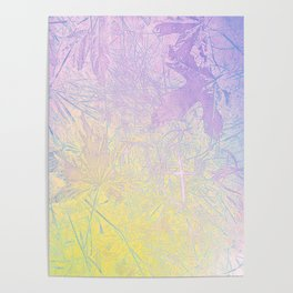 Golden Fall Watercolor Leaf Impressions Poster