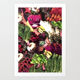 Fruit and Vegetable Salad Surprise Art Print