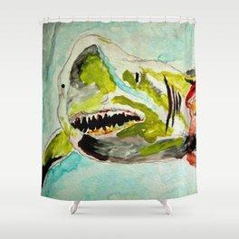 Shark Week - Attacked and bleeding Shower Curtain