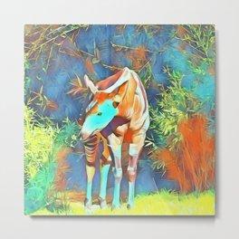 Animal ArtStudio 419 Okapi Metal Print