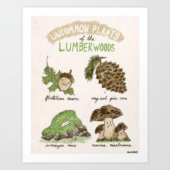 Uncommon Plants Of The Lumberwood Art Print