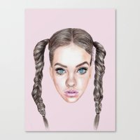 manga Canvas Prints featuring Miss Manga by Michaela Ramstedt
