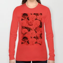 Vintage & Shabby floral camellia flowers watercolor pattern Long Sleeve T-shirt