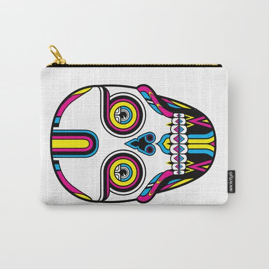 CMYK Skull Carry-All Pouch