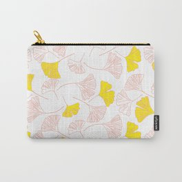 Pink Gingko Leaves, Yellow Gingko Leaves, Gingko Pattern Carry-All Pouch