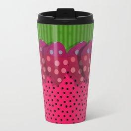 """Spring and summer strawberries paper"" Travel Mug"