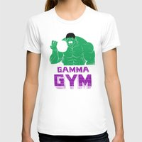 gym T-shirts featuring gamma gym by Louis Roskosch