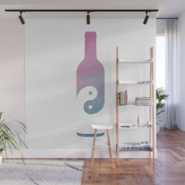Taoist Wine - Pastel Watercolor Wall Mural