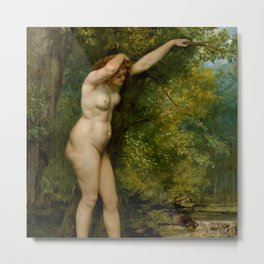 """Gustave Courbet """"Young Bather"""" Metal Print"""