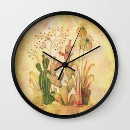 For the Love of Cactus Wall Clock