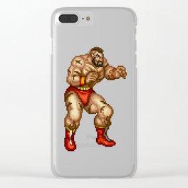 Zangief pixel art Clear iPhone Case