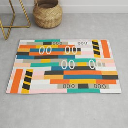 Modern abstract construction Rug