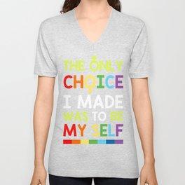 LGBT Lesbian Art Gay Art Bisexuality Pride Transgendered Unisex V-Neck