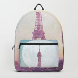 I LOVE PINK PARIS EIFFEL TOWER - Full Moon Universe Backpack