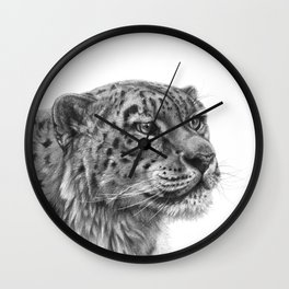Snow Leopard G095 Wall Clock